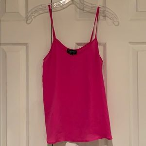 Topshop hot pink strap blouse
